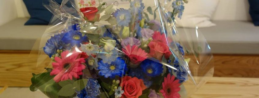 開業後に頂いた花